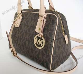 NWT Michael Kors Logo PVC Signature Tote Handbag Satchel Bag Jacquard