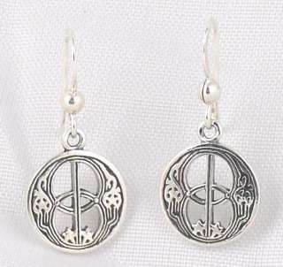 Sterling Silver CHALICE WELL SYMBOL Earrings Celtic NEW