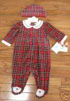 New 2 piece Girls Christmas Outfit for 3 6 mo. old