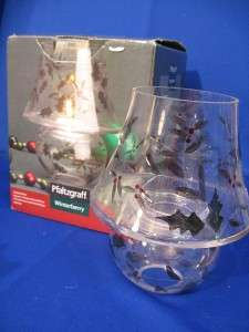 Pfaltzgraff WINTERBERRY Tea Light Lamp + Shade NIB 7
