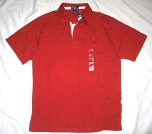 NWT Ralph Lauren Boys Polo Big Pony Rugby RED Shirt XL