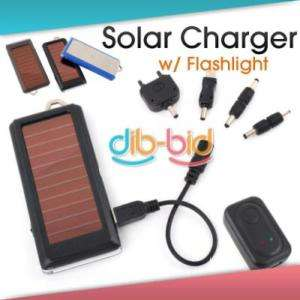 Solar Power Charger Flashlight for PDA Cell Phone Nokia
