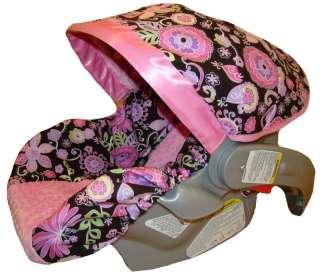 Girl Infant/Baby Car Seat Slip Cover   Pink Boho