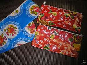 BLUE MEXICAN FABRIC COSMETIC CASE PENCIL CASES