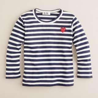 PLAY Comme des Garçons® stripe heart tee   tees & tops   Girls