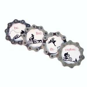 Bike Chain Spirit Bicycle Magnet Set