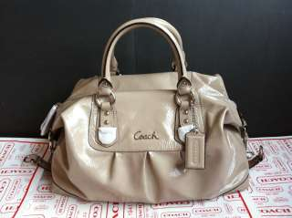 BRAND NWT $498! COACH Ashley Patent Leather LARGE Satchel ~ F15454