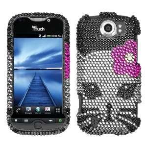 HTC myTouch 4G Slide Kitty Full Diamond Bling Phone Protector Cover
