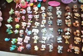LITTLEST PET SHOP LOT 99 PETS+9 BUILDINGS/PLAYSETS+CASE & MORE!