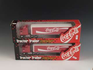 Ertl Coca Cola Tractor Trailer Semi Trucks NIB