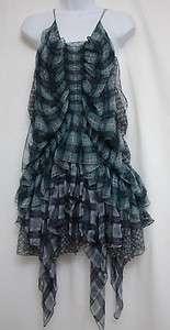 ROBERTO CAVALLI FRILLY SILK PRINT DRESS SIZE XXS (Great Teenager Dance