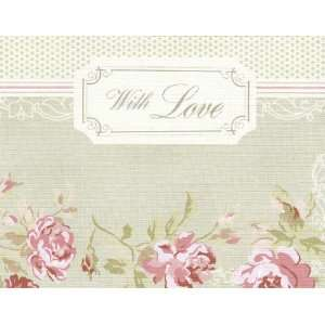 Set of 8 Treasures By Shabby Chic Blank Note Cards and 8 Coordinating