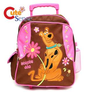 Scooby Doo School Roller Backpack Luggage Bag 10 PINK