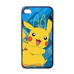 New Pokemon Apple Iphone 4 CASE (BLACK)   Pikachu Edition #1
