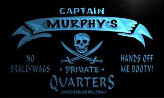 Murphys Captain Quarters Pirate Man Cave Bar Beer Neon Light Sign