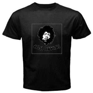 Jimi Hendrix Band Music Black Color T shirt Logo Logo III