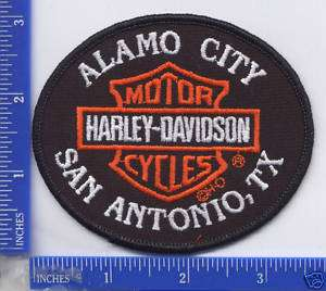 Harley Davidson Dealer ALAMO CITY H D SAN ANTONIO, TX. patch