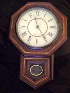 ANTIQUE SETH THOMAS REGULATOR WALL CLOCK PENDULUM 32 TALL