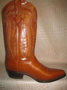 New 2011 Mens Smooth Leather Honey Western Cowboy Boots