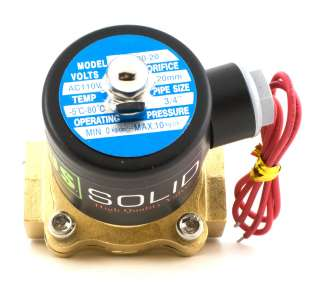 Brass Electric Solenoid Valve 110 VAC Normally Closed water, air