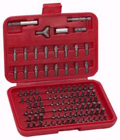 100 Piece Hex Shank Tamper Resistant Security Bit Set