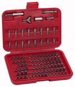 100 Piece Hex Shank Tamper Resistant Security Bit Set |