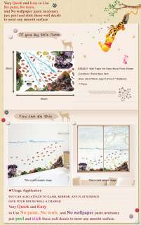 SS 58232 FISH Adhesive Wall Deco Decals Mural Sticker