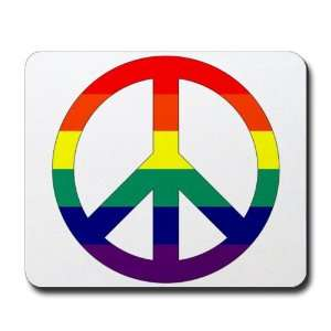 Mousepad (Mouse Pad) Rainbow Peace Symbol Sign Everything