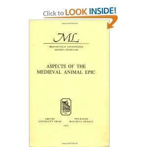 Aspects of the Medieval Animal Epic Proceedings of the International
