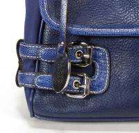 Ladies Franco Sarto Blue Pebbled Leather Purse Handbag Nice