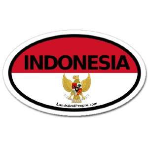 Indonesia Flag Car Bumper Sticker Decal Oval Automotive