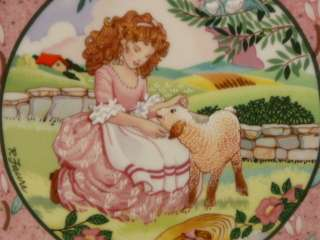 wall PLATE ONCE UPON A RHYME MARY HAD A LITTLE LAMB