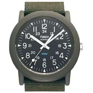 Timex   Classic, Black Dial, Olive Nylon Strap