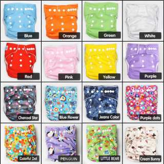 Reusable Snap Size Adjustable Baby Cloth Diaper Nappy