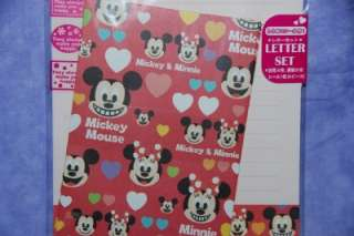 Disney Mickey & Minnie Mouse Faces Red Stationary Letter Set