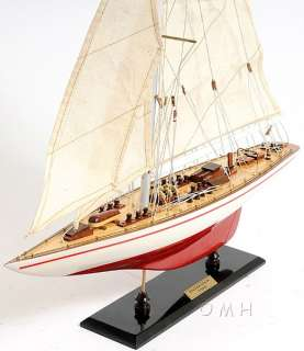Endeavour Yacht Wooden Model 24 Americas Cup J Class Boat Sailboat