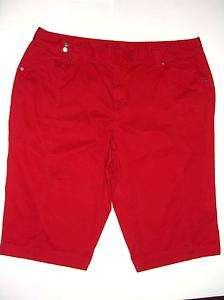 VENEZIA Stretch Red Capri Womens Jean Size 28