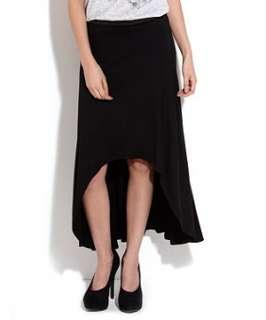 Black (Black) Black Dip Hem Jersey Skirt  247718301  New Look