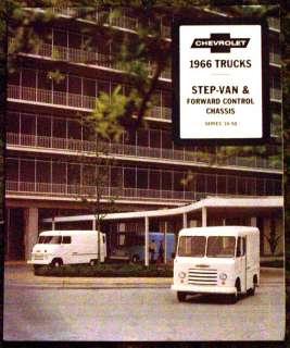 1966 Chevrolet Trucks Step Van Series 10 50 Brochure 66