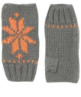 Grey (Grey) Kit And Pearl Snowflake Gloves  236154904  New