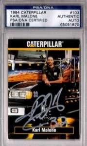 Karl Malone 1994 Caterpillar AUTOGRAPH PSA DNA
