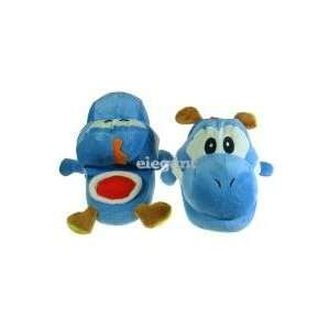 Super Mario Blue Yoshi Plush Slipper   Kids Everything