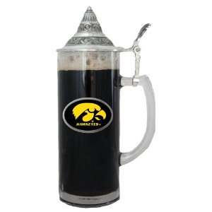 Iowa Hawkeyes NCAA Team Logo 20oz Tall Lidded Stein