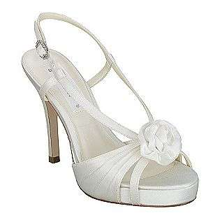 Womens Flower 6085   Light Ivory Satin  Coloriffics Shoes Womens