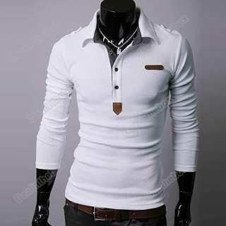 New Mens Korean Spring Lapel Casual Thin POLO Shirt Top England Shirt
