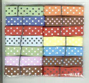 By the yard 5/8 POLKA DOT Ribbon great for Scrapbooking & Hair Bow