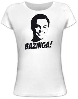 SHELDON BAZINGA Big Bang Theory Lady/Girlie Funshirt Funshirts