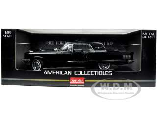 1960 FORD THUNDERBIRD HARD TOP RAVEN BLACK 1:18 DIECAST MODEL CAR BY