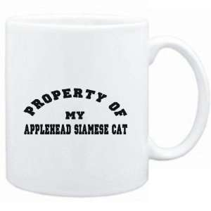 Mug White  PROPERTY OF MY Applehead Siamese  Cats