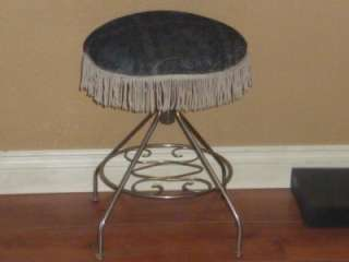 HOLLYWOOD REGENCY / ART DECO / RETRO MOD VANITY STOOL / SEAT / CHAIR